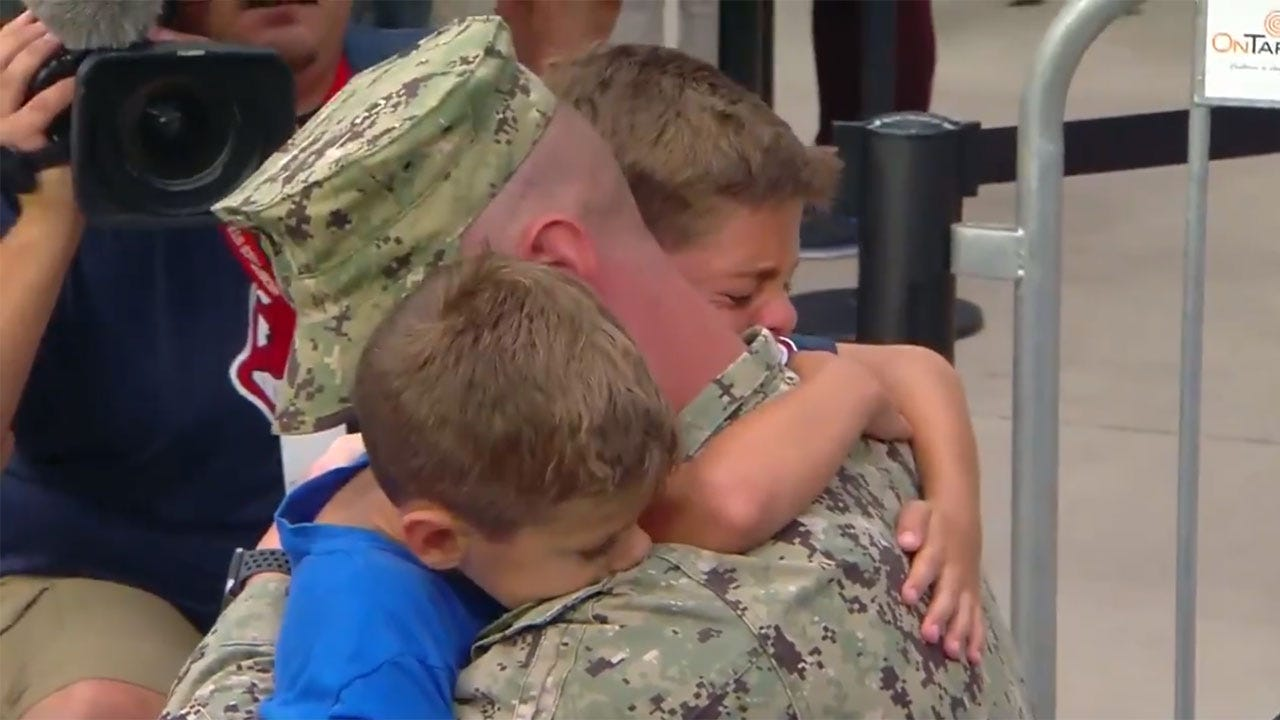 9-Year-Old Boy Brought To Tears By Coast Guard Dad's Surprise At Cleveland Indians Game