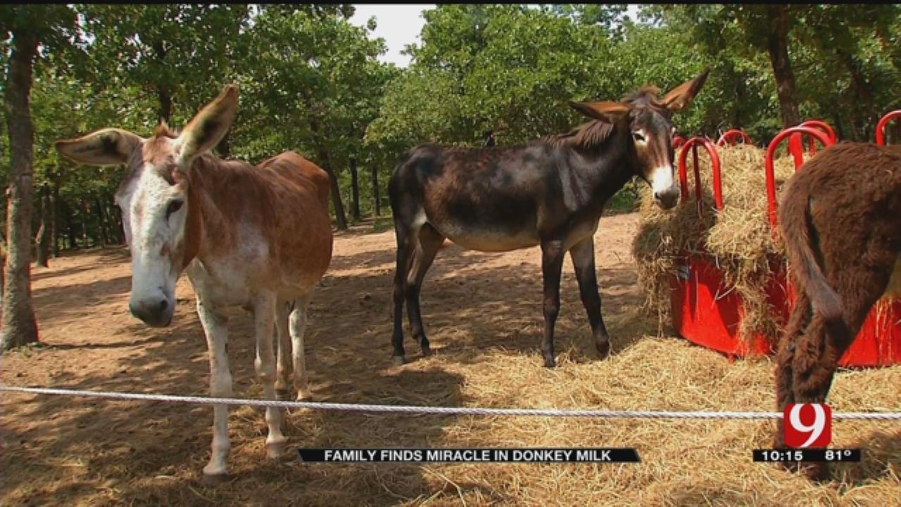 Oklahoma Family Turns To Donkey Milk To Help their Sick Child