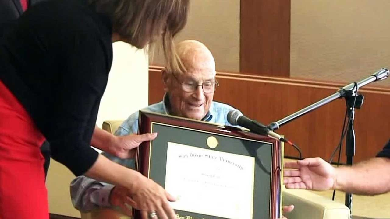 105-Year-Old Veteran Of Three Wars Finally Receives College Diploma