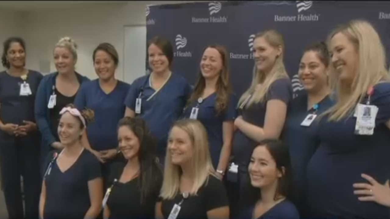 16 Nurses Who Work In The Same ICU Are Pregnant