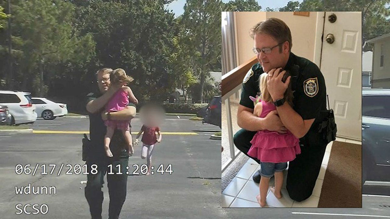 Dramatic Dash Cam Video Shows Moment Deputy Saves Little Girl From Hot Car