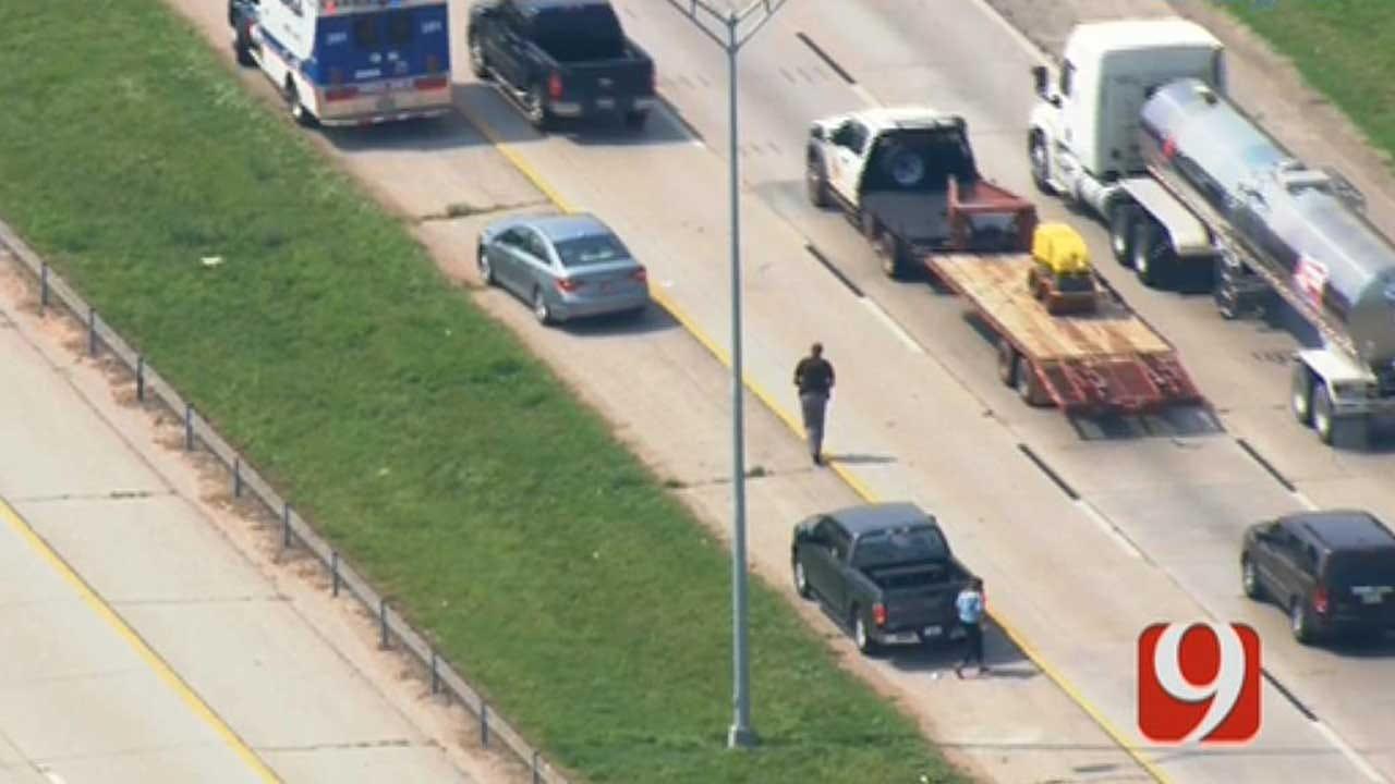 OKC Emergency Crews Respond To Reported Injury Crash On I-35
