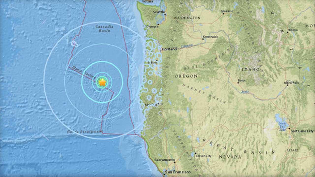 Earthquake, Aftershock Rattle Oregon Coast