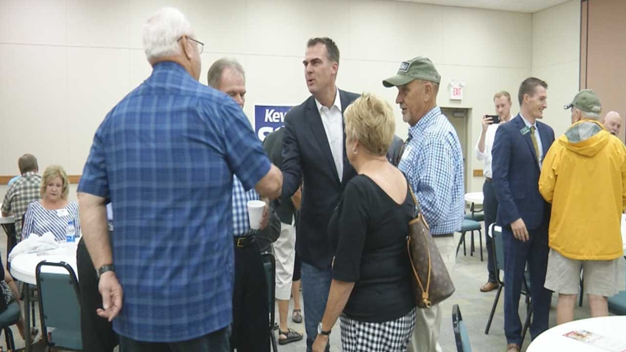 Kevin Stitt Promotes Manufacturing Industry As Runoff Vote Nears