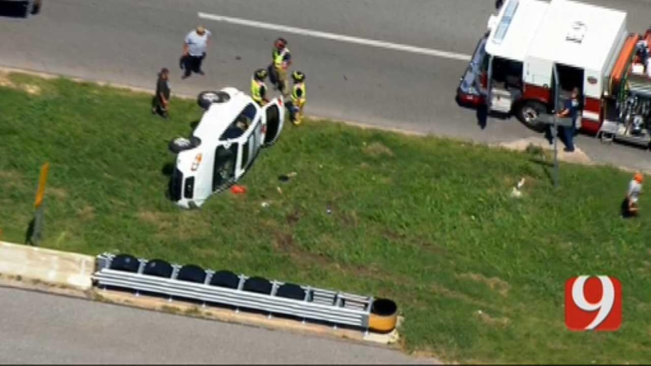 OKC Emergency Crews Respond To Rollover Crash On I-240