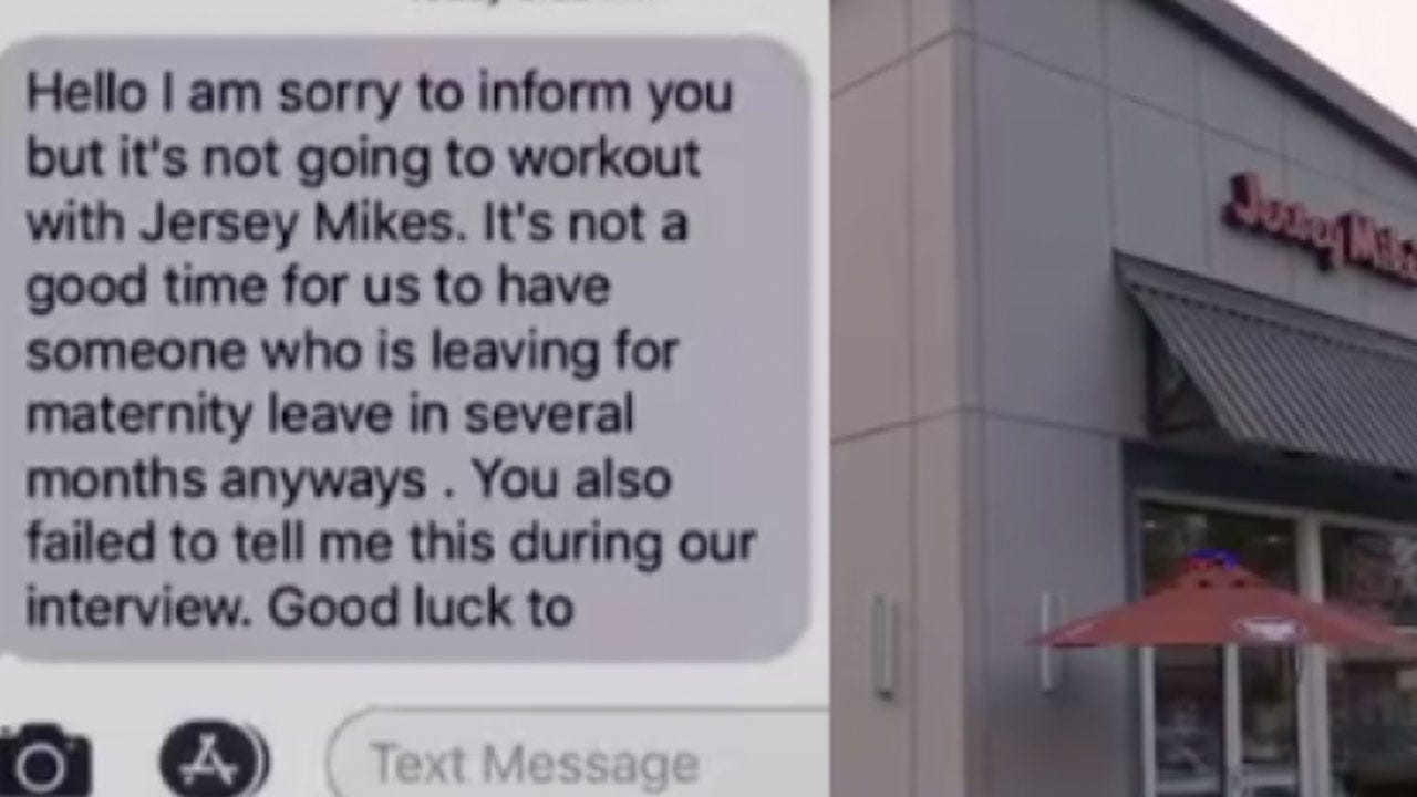 Woman Says She Was Fired Via Text After Asking For Maternity Leave