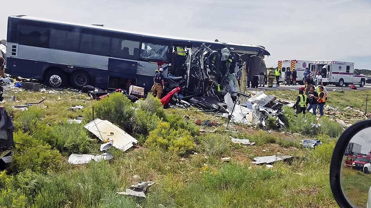At Least 6 Dead After Grisly Bus Crash In New Mexico, Hospital Says