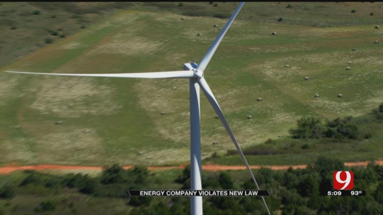 Florida Based Energy Company Violates New Law