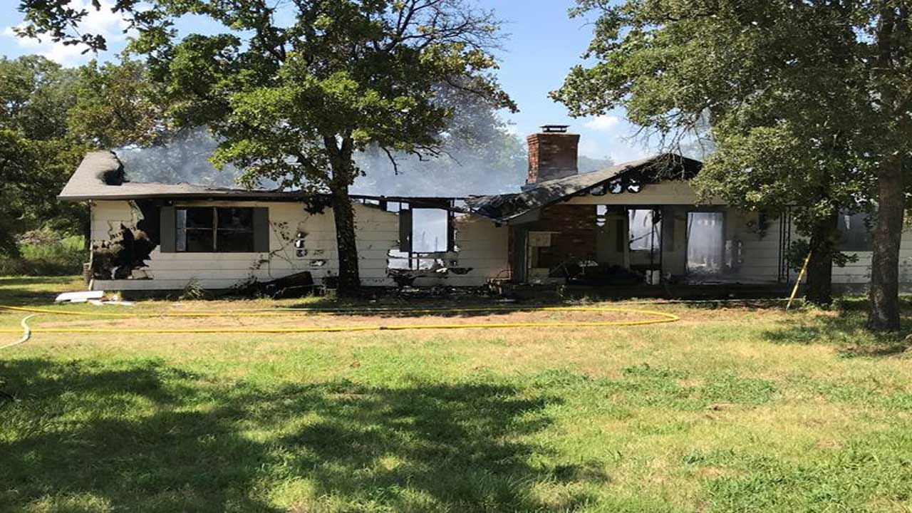 Fire Crews Battle Fully Involved House Fire In Newalla