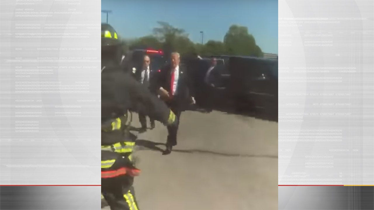 Going Viral: President Trump Stops Motorcade To Thank Firefighters