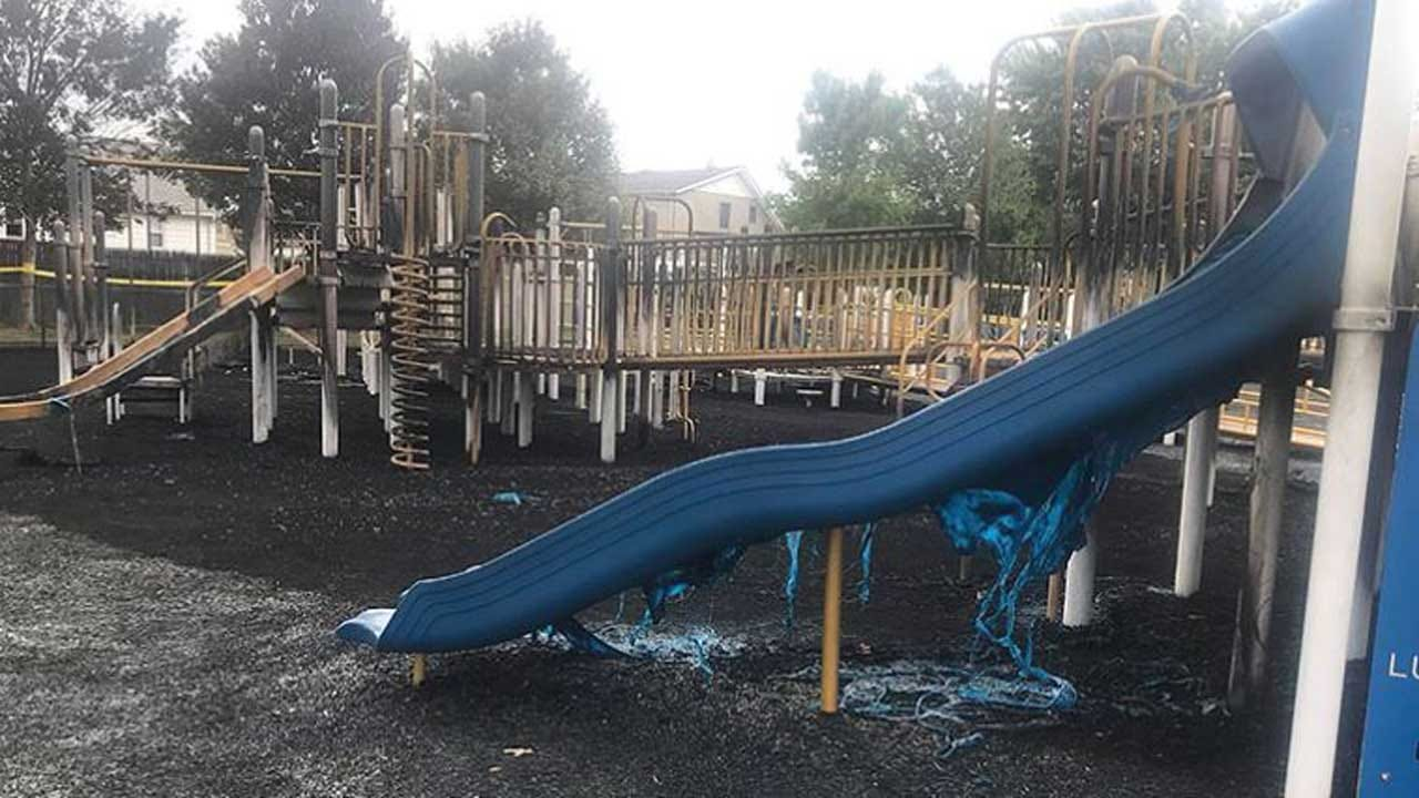 3 Teens Charged With Setting Fire To Playground For Special Needs Children