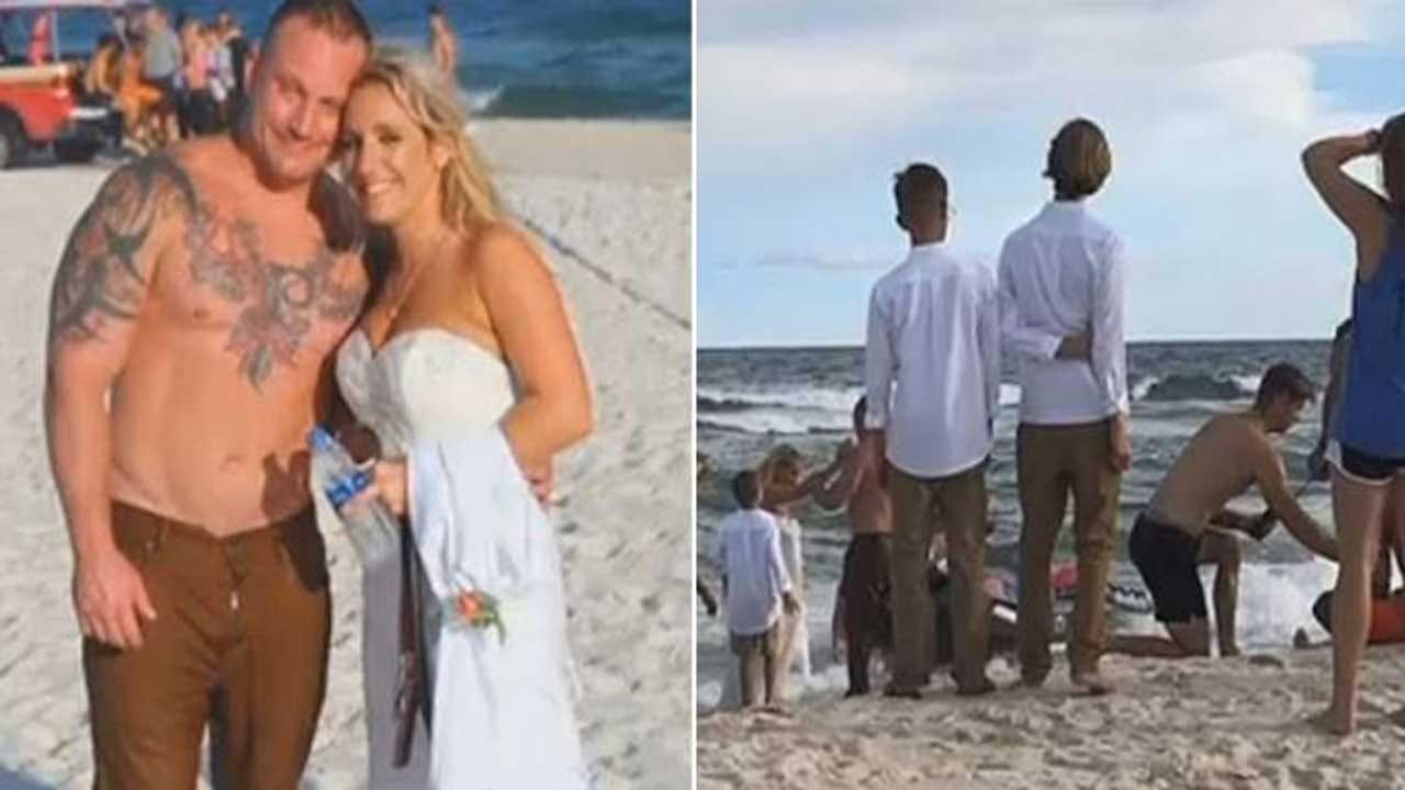 Groom Saves Drowning Man At Beach During Wedding Photo Shoot