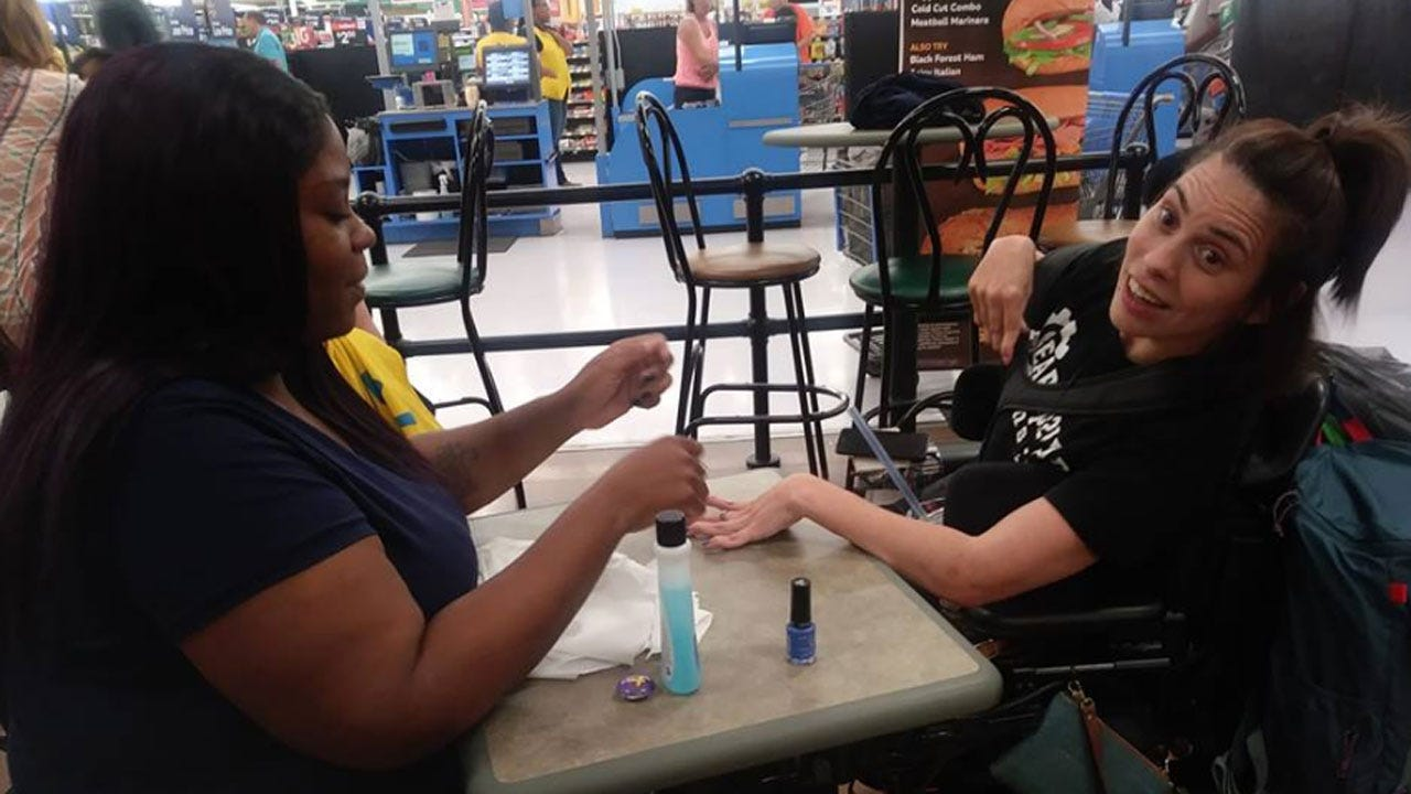 Walmart Worker Paints Woman's Nails After She Was Denied Service