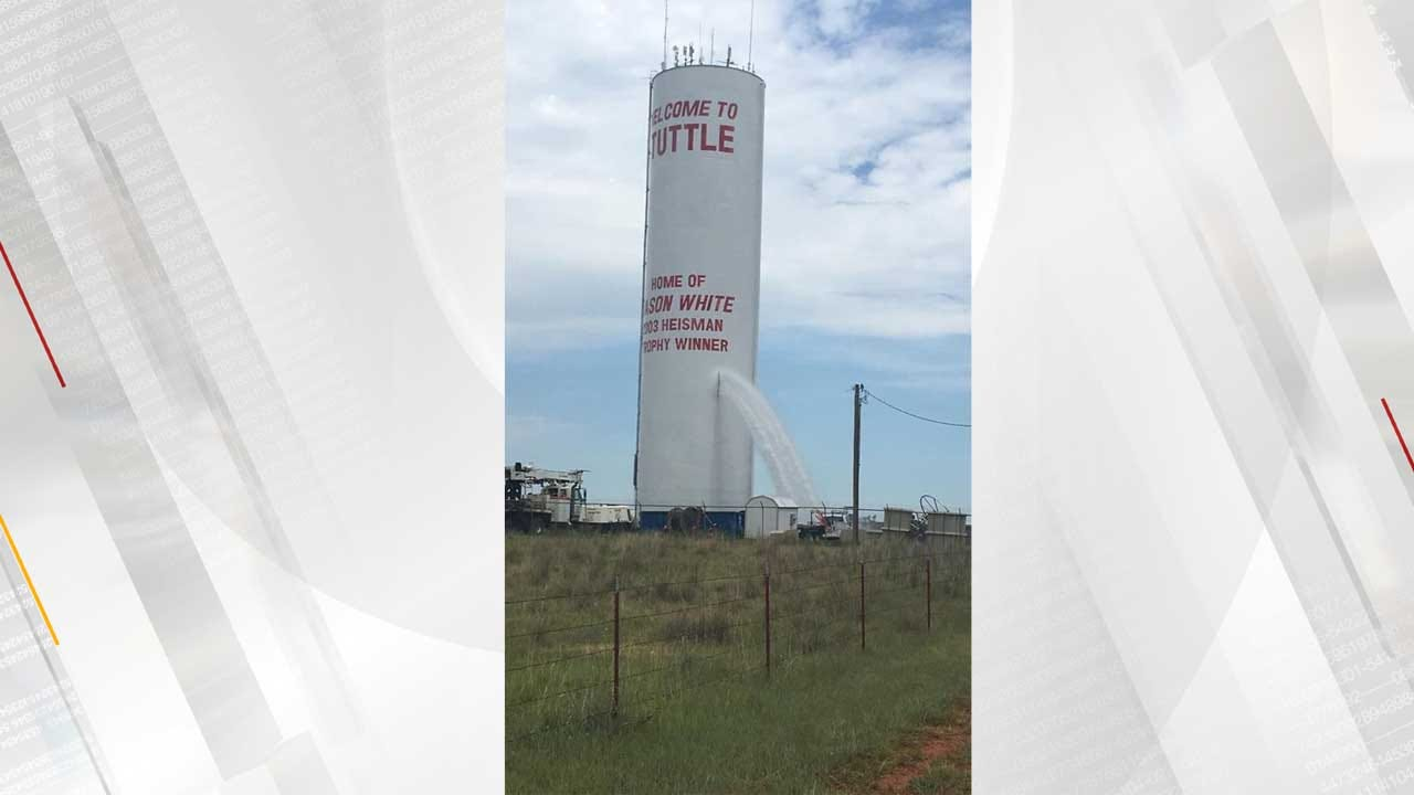 Tuttle Workers Reroute Water As Tower Spews