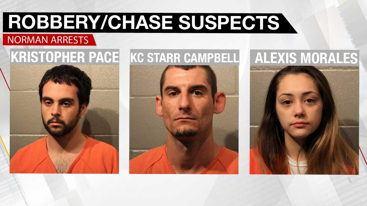 3 Arrested In Connection With Norman Armed Robbery, Injury Collision
