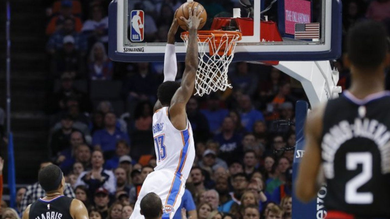 George Scores 33 To Help Thunder Top Clipper 110-104
