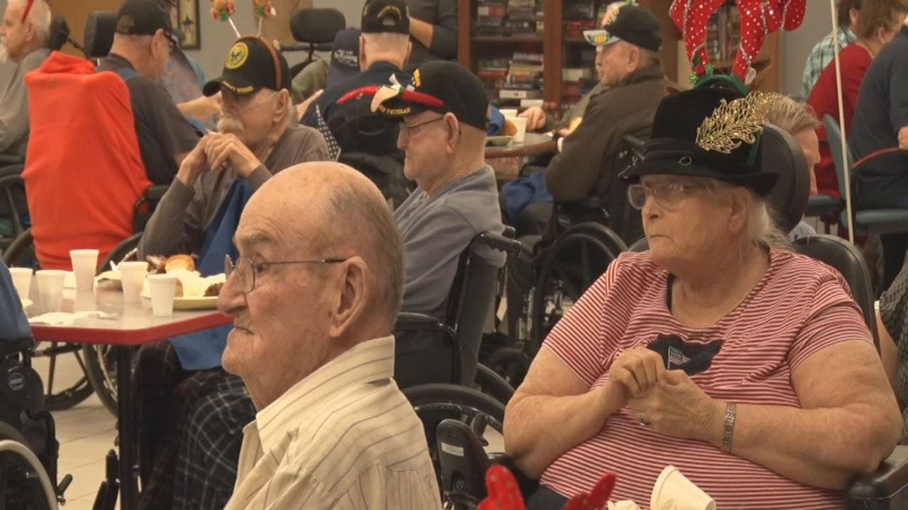 Norman Veterans Host Their Own Christmas Party To Brighten Spirits
