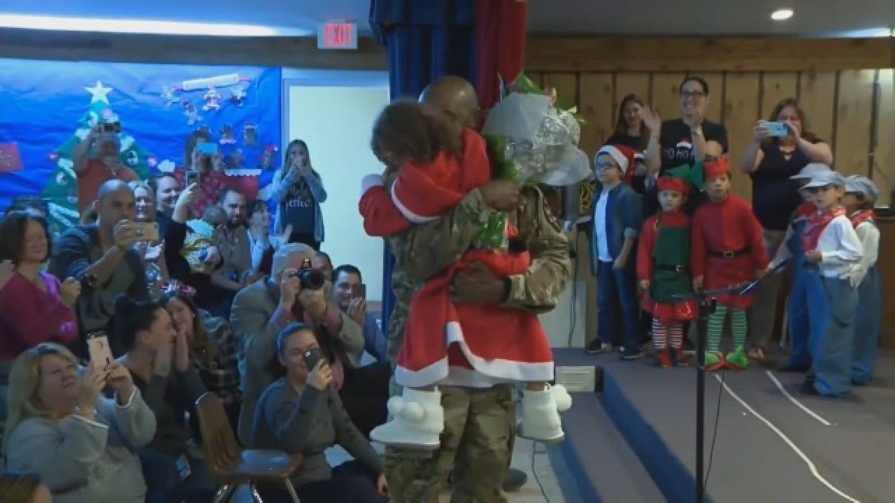 Military Dad Surprises Daughter During School Musical