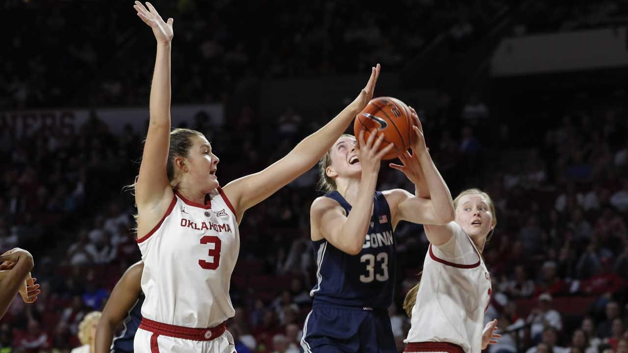 No. 1 UConn Women Rally Past Oklahoma, 72-63