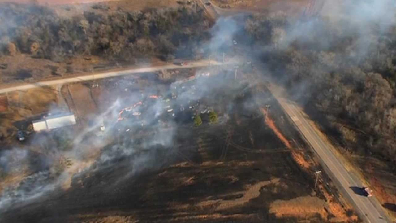 Firefighters Battling Wildfire Near Bridge Creek