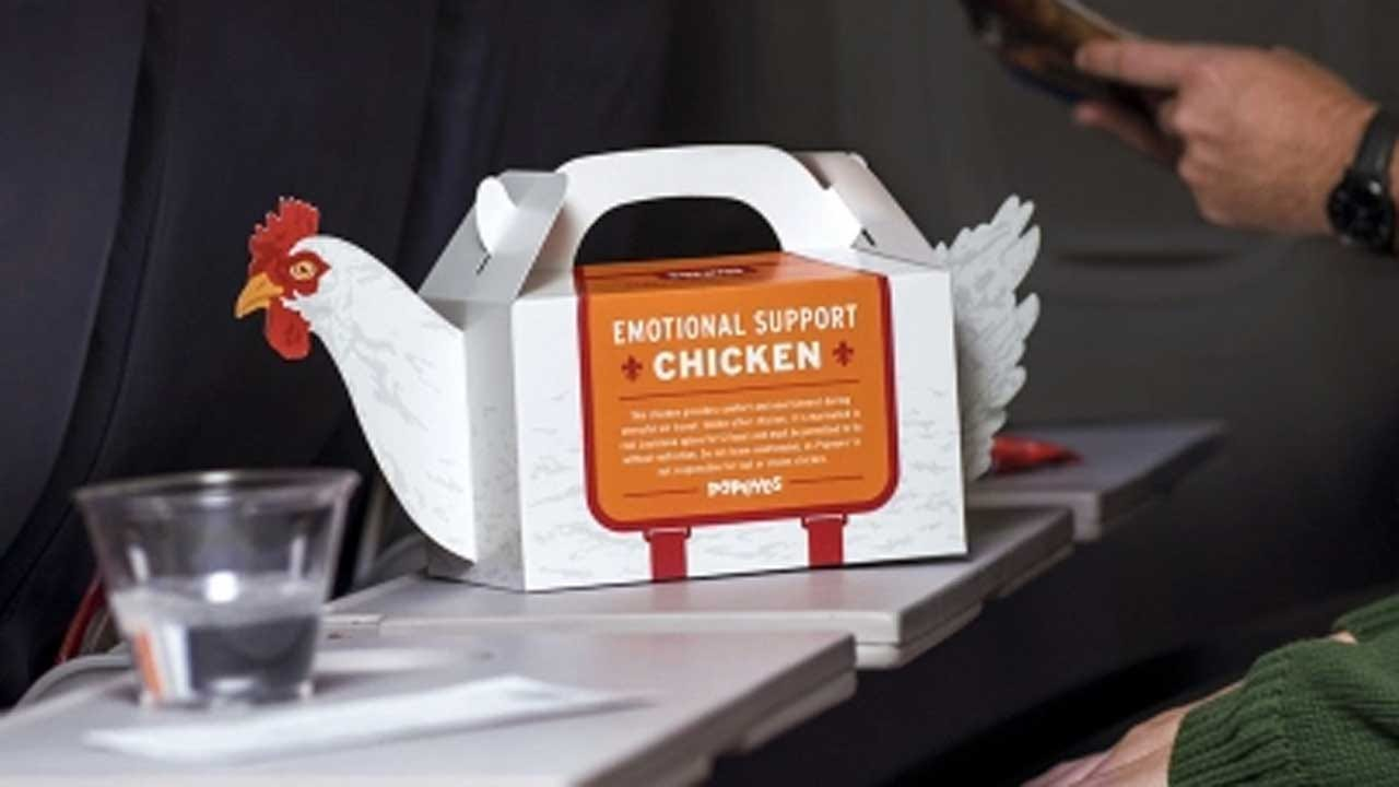 Popeyes Offering Airport Travelers 'Emotional Support Chicken' During Stressful Holiday Season