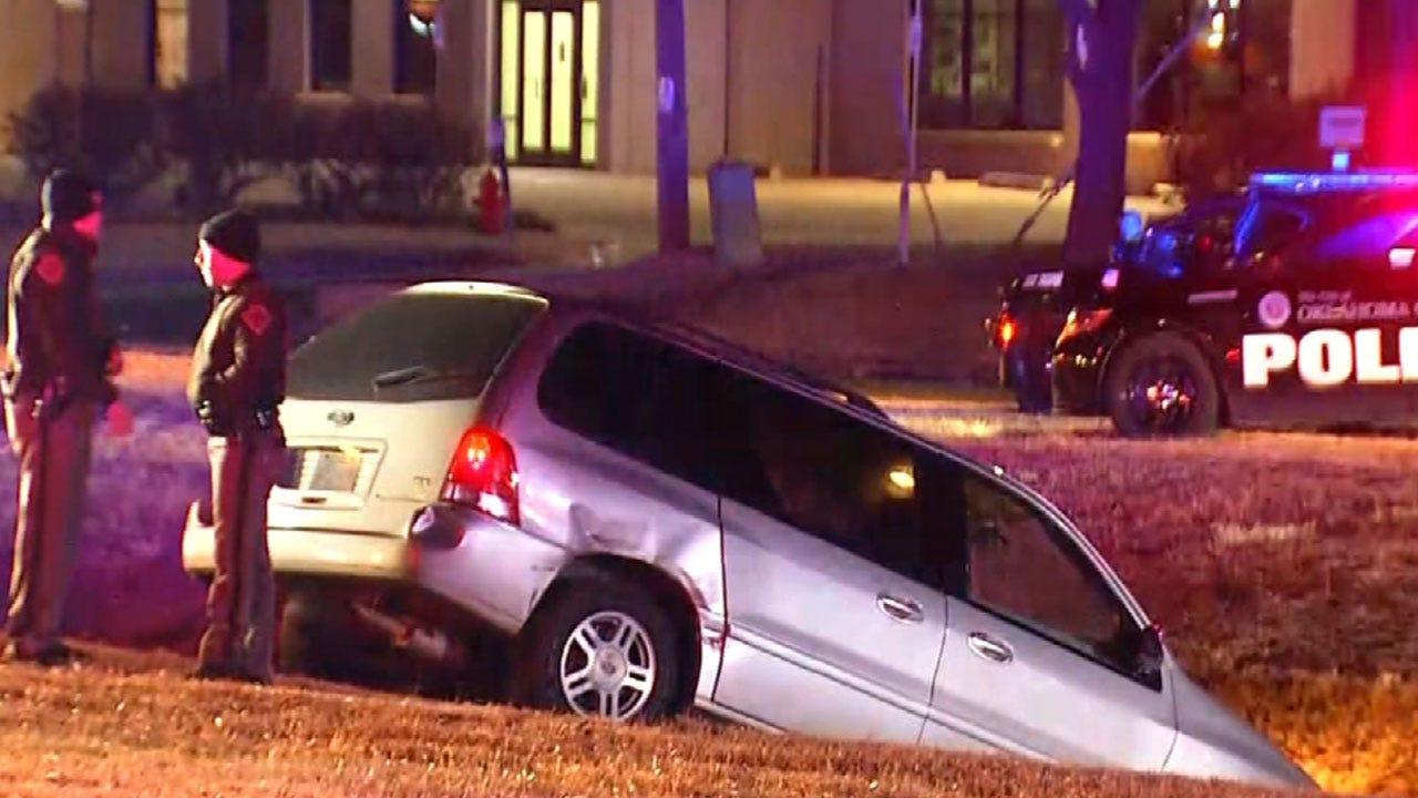 Suspect Crashes Stolen Vehicle In NW OKC, Ending OHP Pursuit