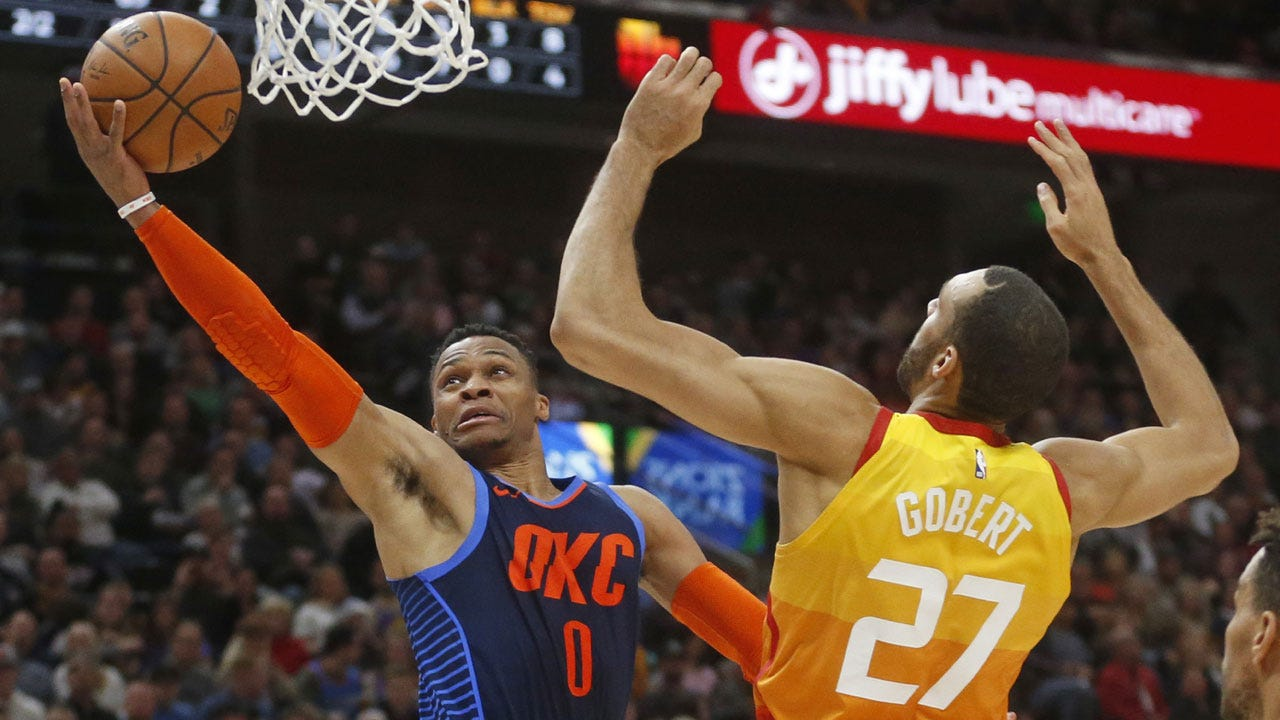 George Has 43 and 14 As Thunder Hold Off Jazz, 107-106