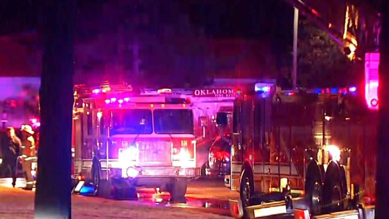 Firefighters Respond To Fire At Council Place Apartments In NW OKC
