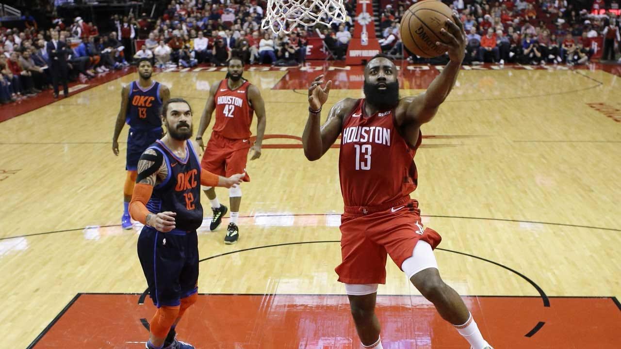 Harden's 41 Helps Rockets Over Thunder 113-109