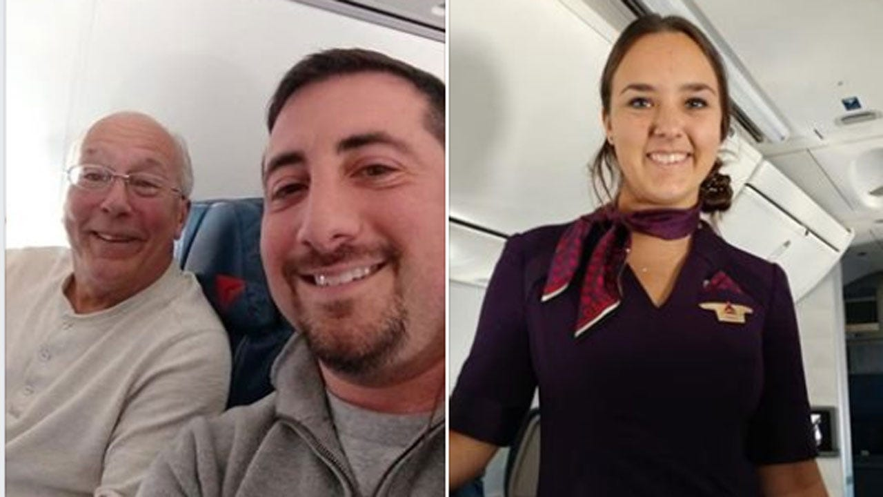 Dad Spends Christmas On Planes With Flight Attendant Daughter