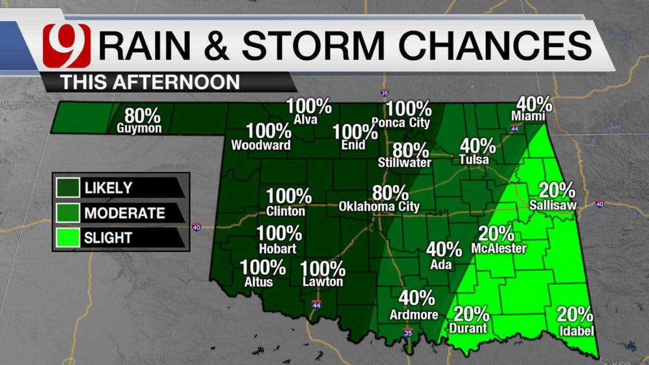Oklahoma Weather: Get An Umbrella For Christmas? You're In Luck