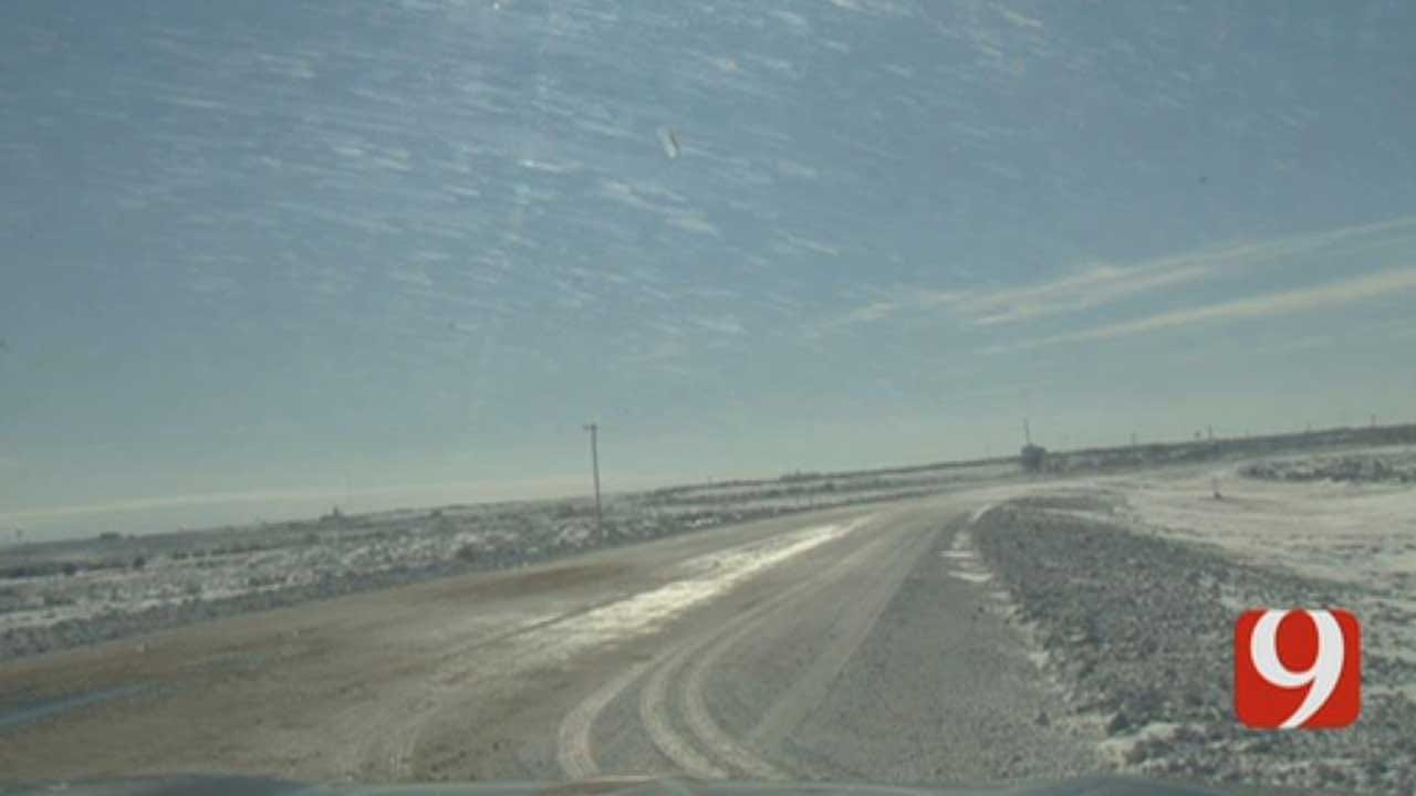 Snow Causes Road Closures In Okla. Panhandle