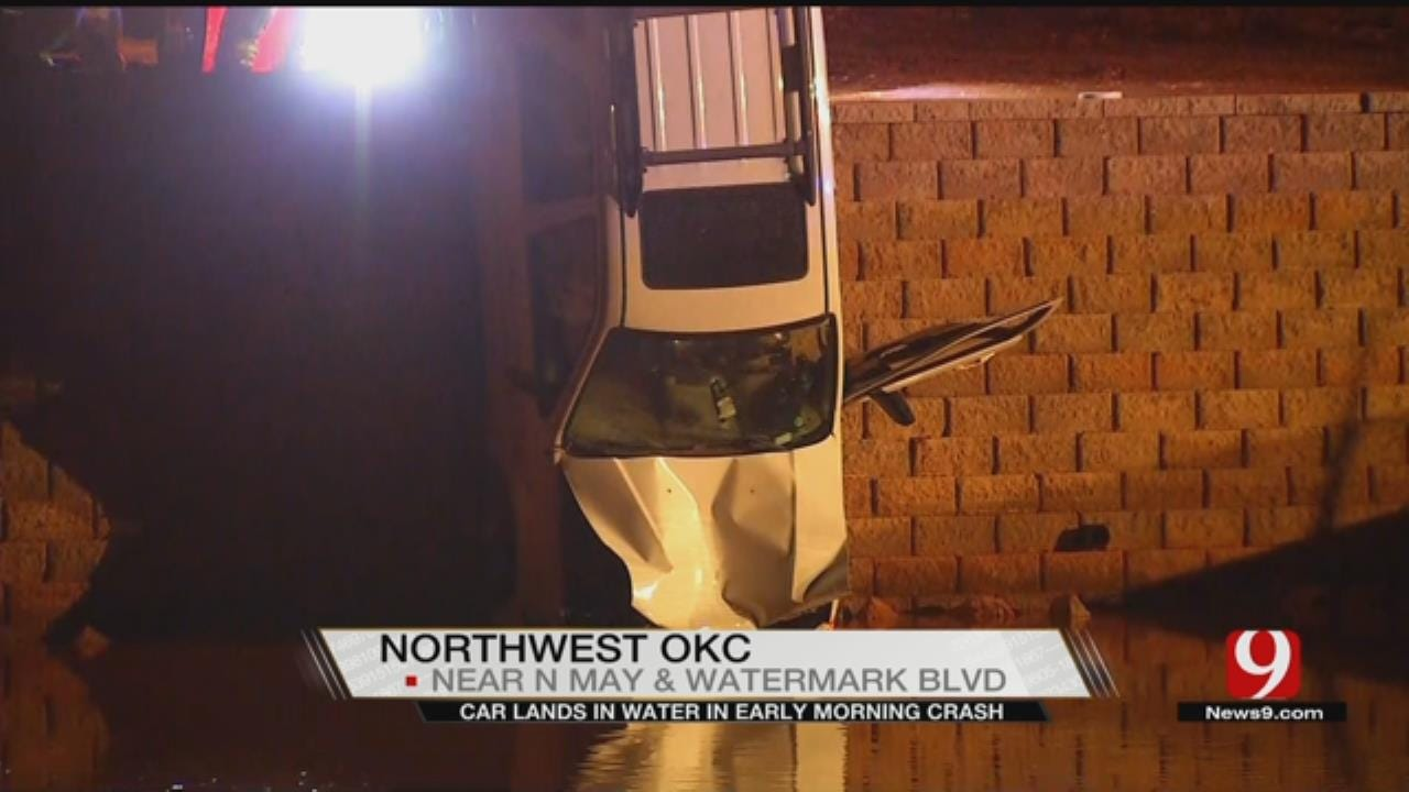 OKC Woman Hospitalized After Driving Into Water