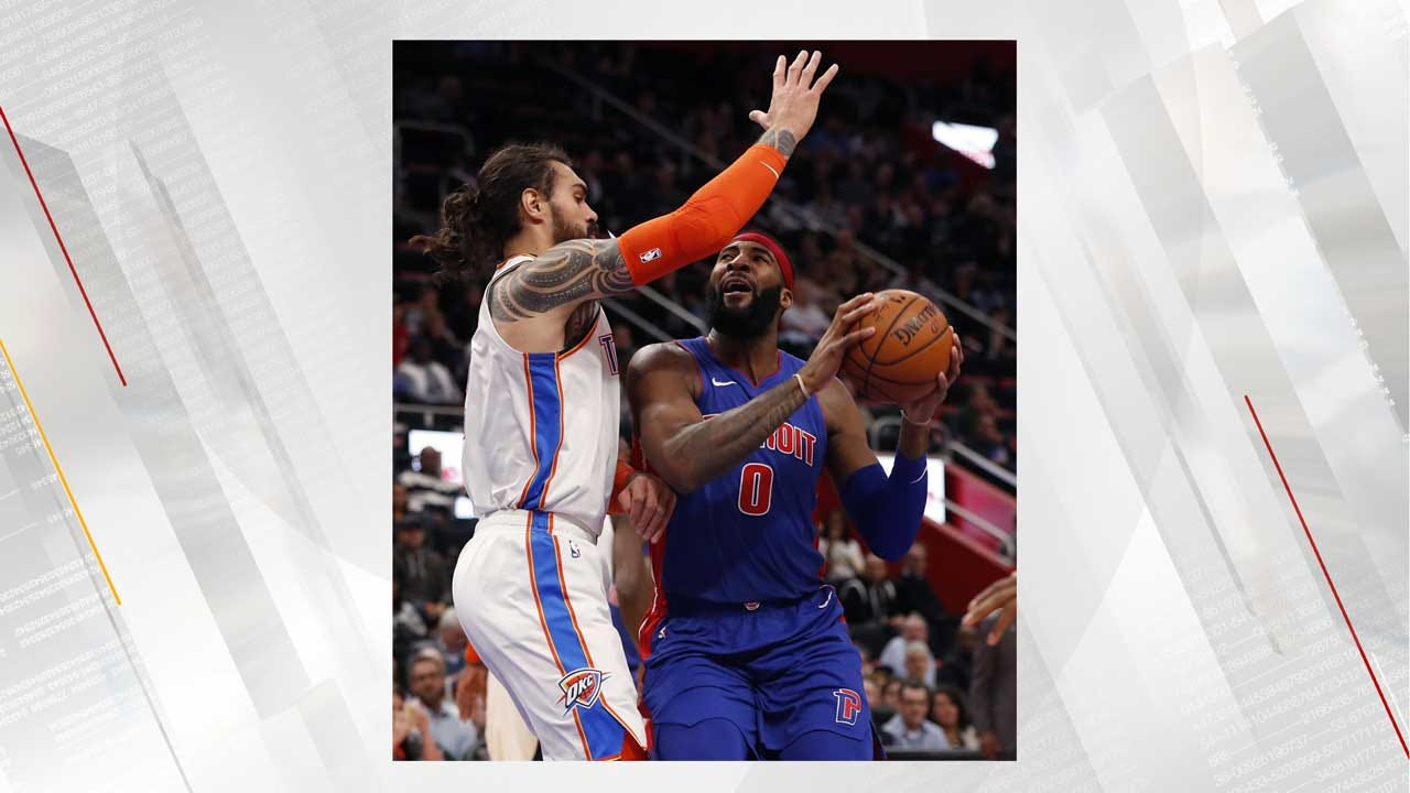Adams, Westbrook Lead Thunder To Rout Of Pistons