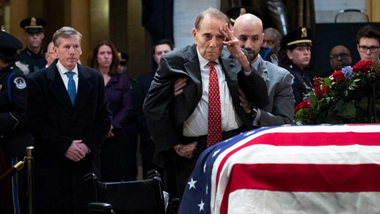 Bob Dole Salutes President George H.W. Bush
