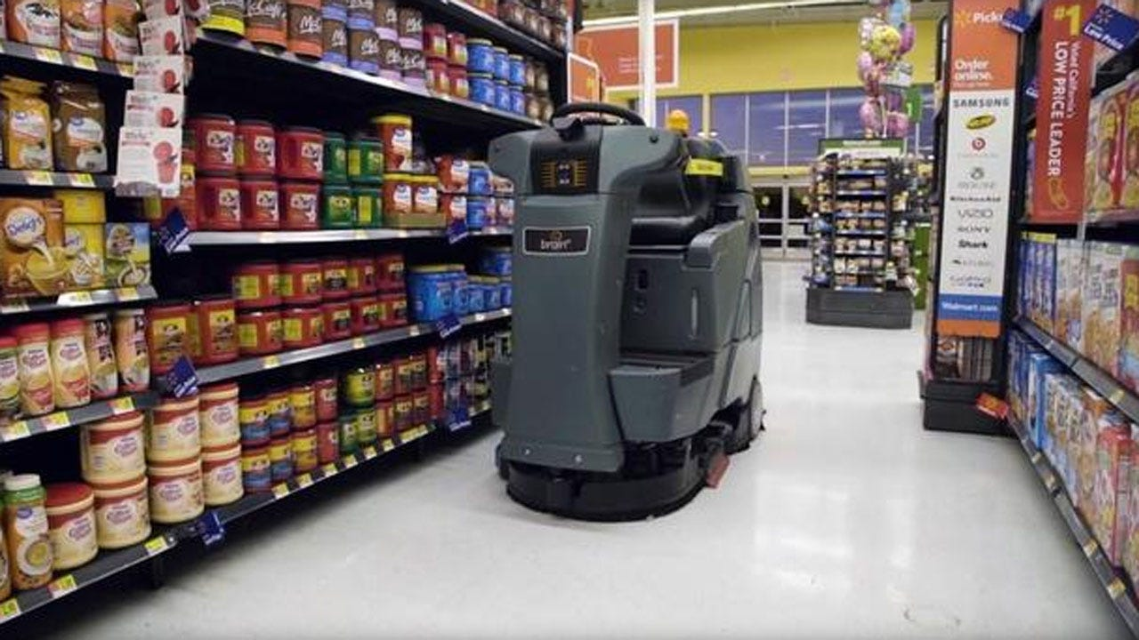 Robot Mop To Clean Floors At Walmart Stores