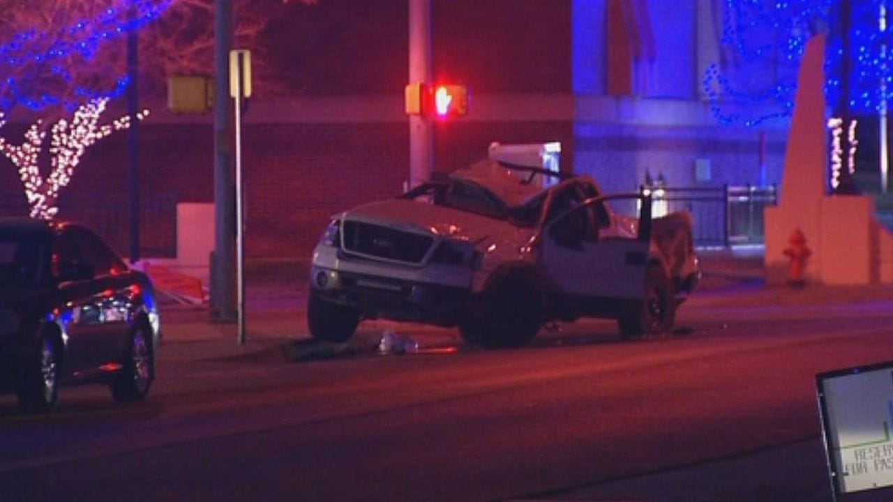 Suspects Crash Vehicle During Pursuit With OKCPD