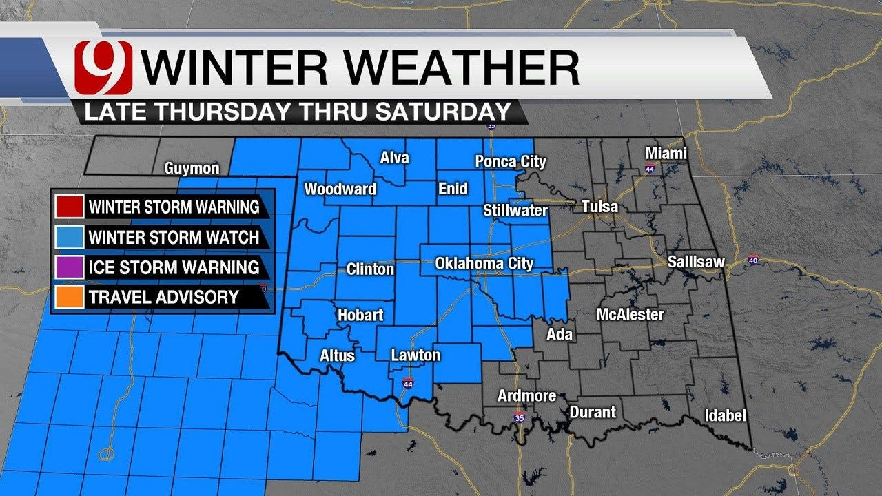 Winter Storm Watch Issued: Will It Be Ice, Snow Or Both For Oklahoma?
