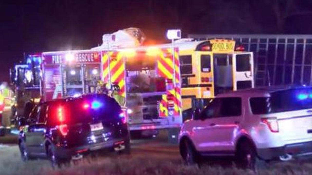 2 Killed In Head-on Crash Involving School Bus, Semi