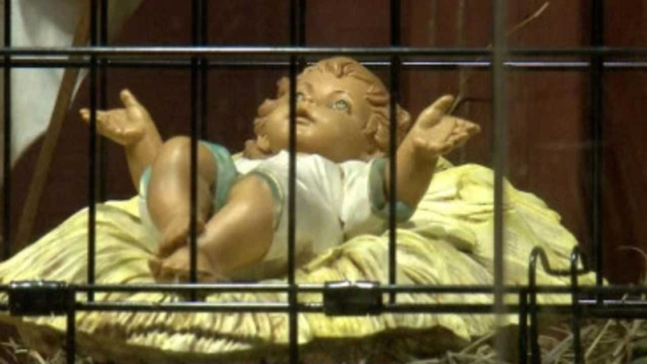 Baby Jesus Placed In Cage In Church's Immigration-Themed Nativity Scene