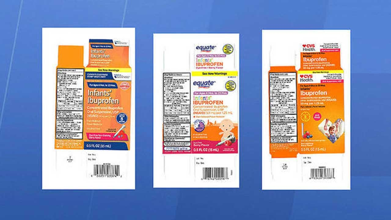 Infant Ibuprofen Recalled From Walmart, CVS, Family Dollar