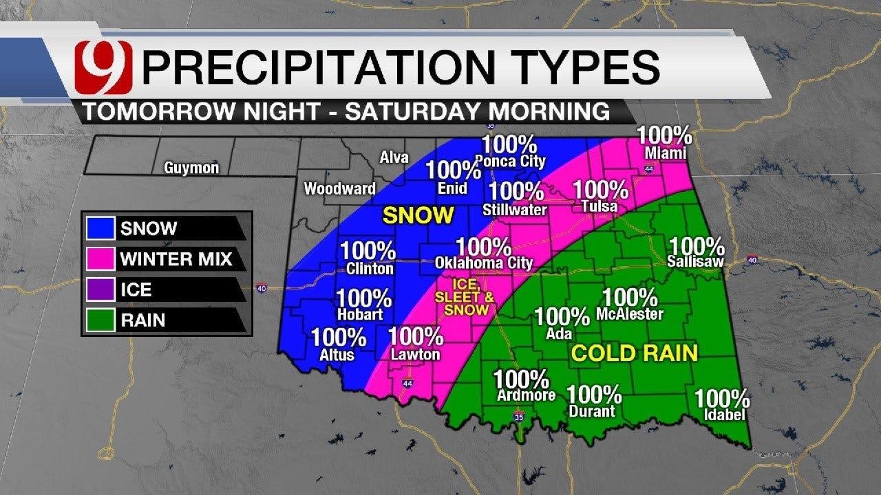 Thursday Night Update On Winter Weather In Oklahoma