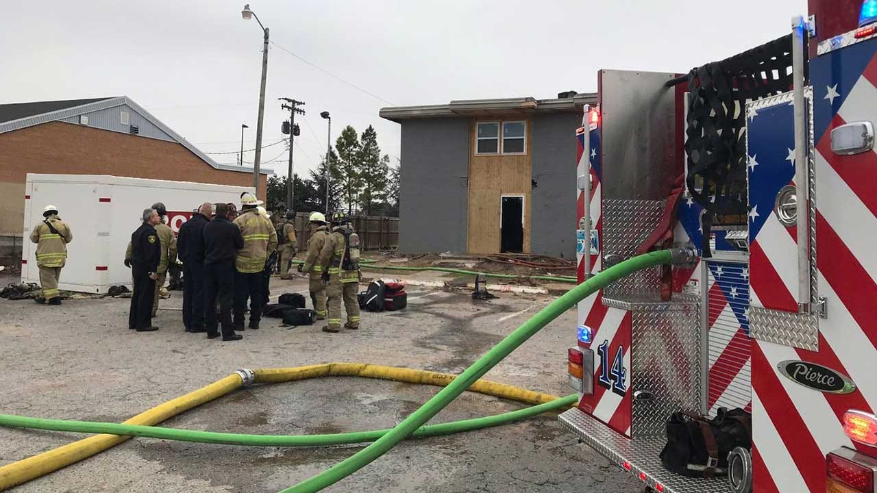 Firefighter Injured In Fall While Battling NW OKC Apartment Fire; 1 Arrested