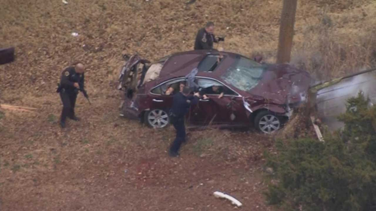 High-Speed Chase Ends In Dramatic Crash In Rural Cleveland Co.