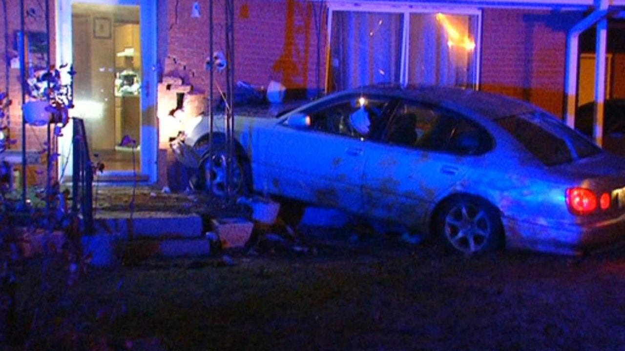 Suspects Crash Into Yukon Home During Police Pursuit