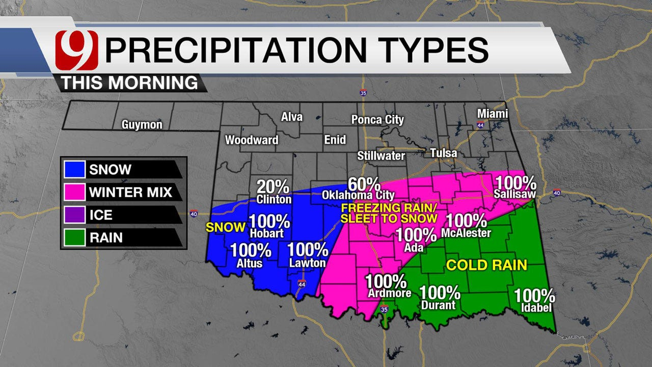 Winter Weather Expected To Move Out Of SW Oklahoma