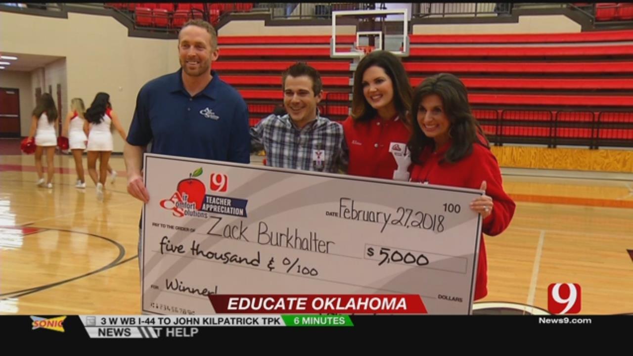 Yukon Teacher Wins Teacher Appreciation Award