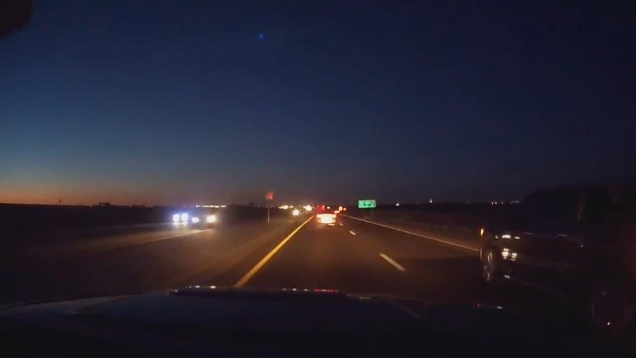 WATCH: OKC Resident Captures 'Falling Star' On Dashcam
