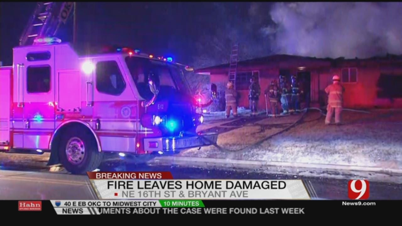 Late Monday Fire Causes Significant Damage To NE OKC Home