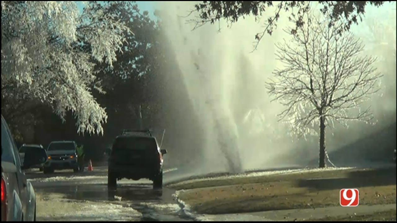 Water Main Break Reported In The Village